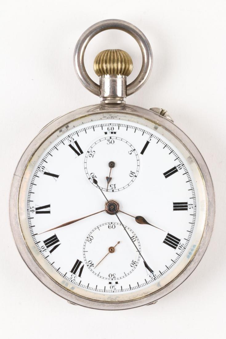 Swiss, Chronograph Pocket Watch - 4