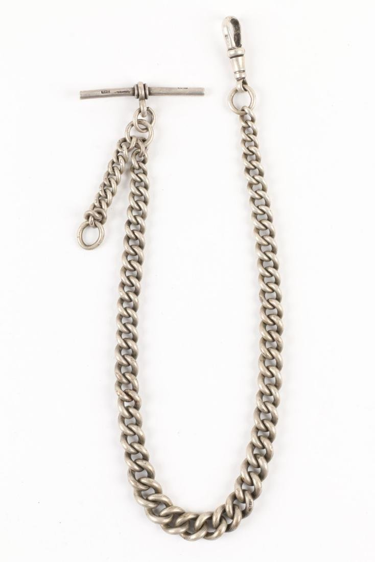J.W Benson, English Pocket Watch & Chain - 8