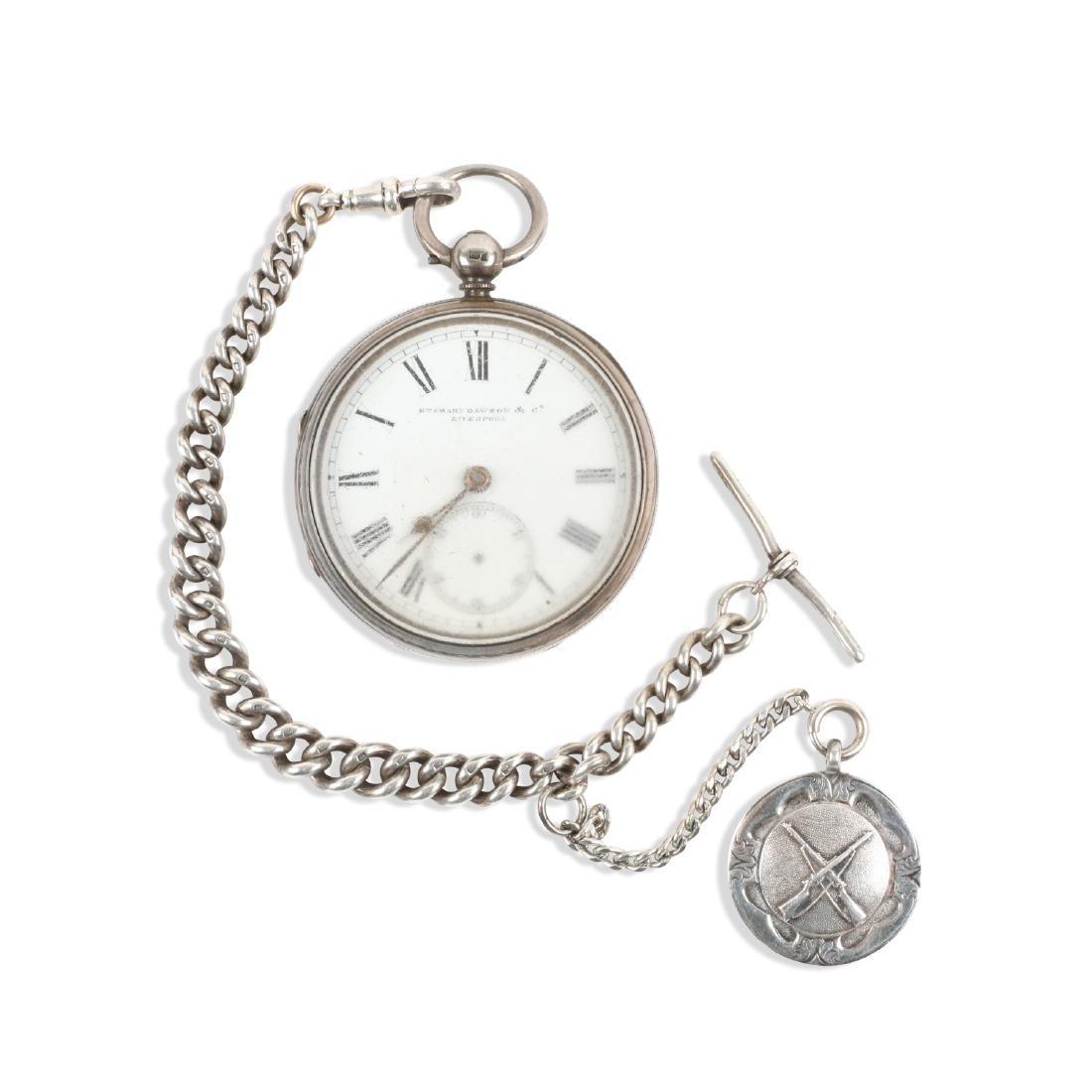 Stewart Dawson, Liverpool, Sterling Silver Pocket Watch