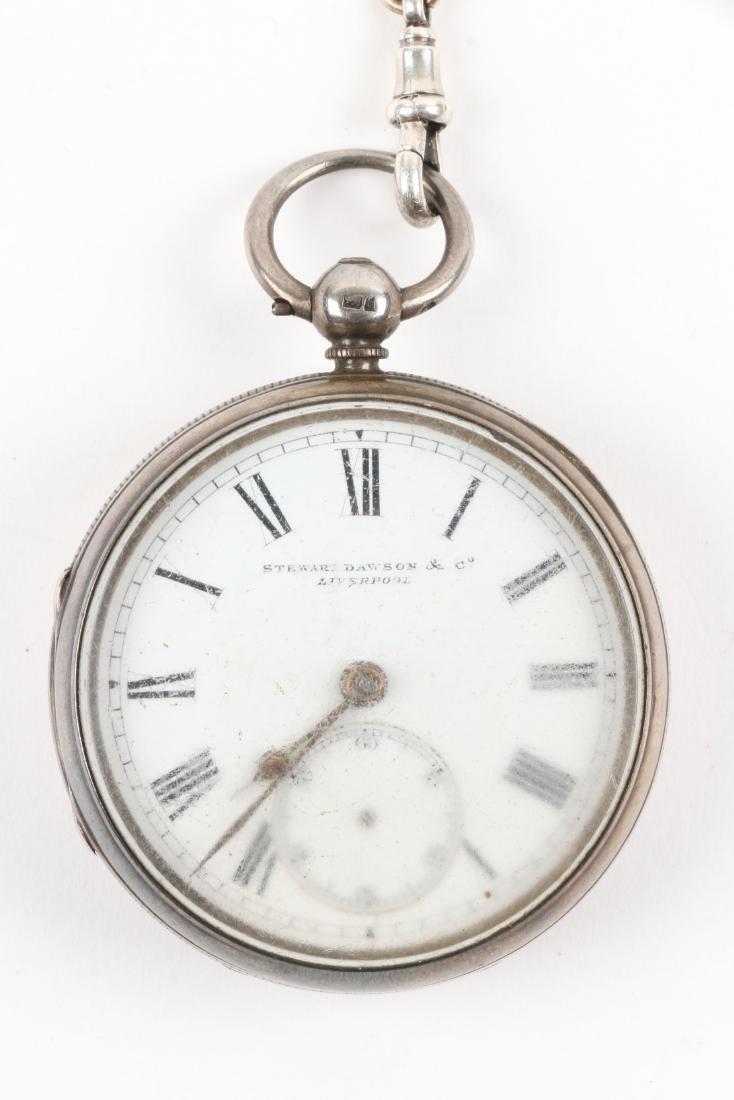 Stewart Dawson, Liverpool, Sterling Silver Pocket Watch - 2