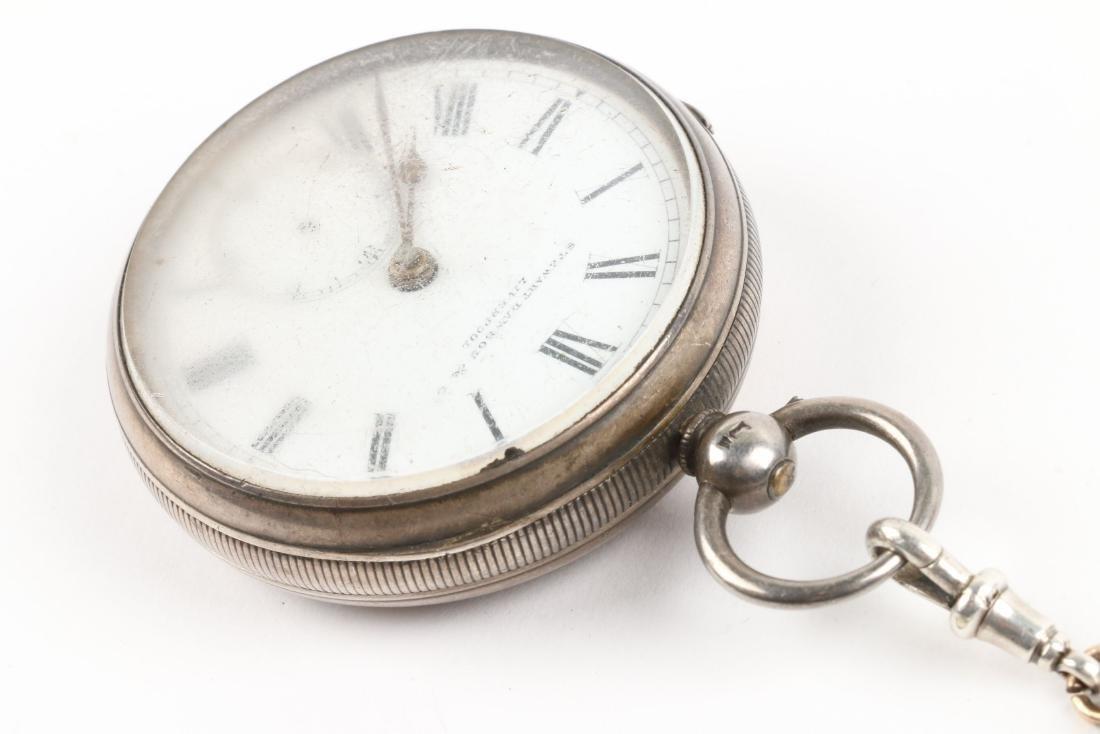 Stewart Dawson, Liverpool, Sterling Silver Pocket Watch - 3