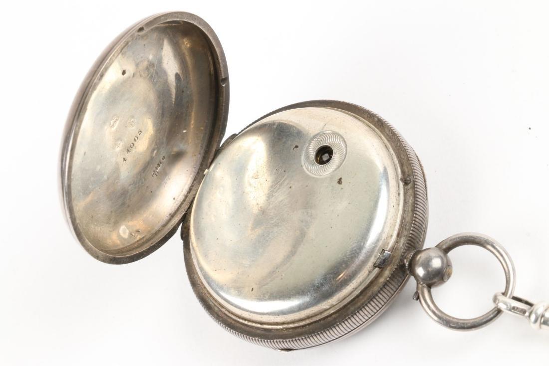 Stewart Dawson, Liverpool, Sterling Silver Pocket Watch - 6