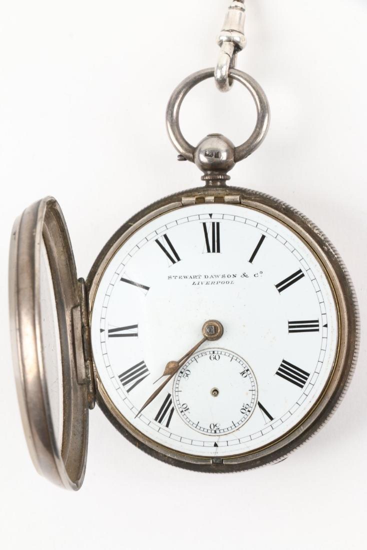 Stewart Dawson, Liverpool, Sterling Silver Pocket Watch - 7