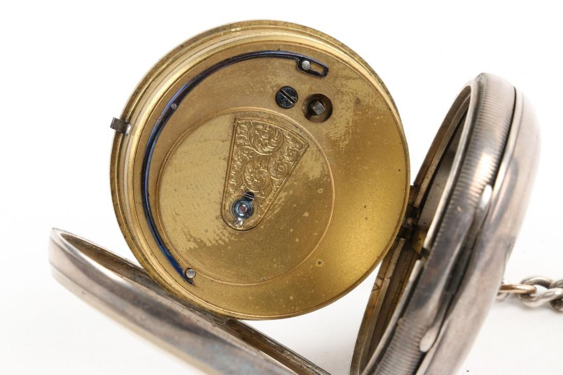 Stewart Dawson, Liverpool, Sterling Silver Pocket Watch - 8