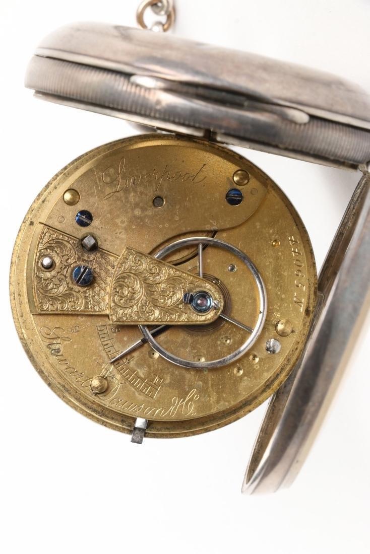 Stewart Dawson, Liverpool, Sterling Silver Pocket Watch - 9