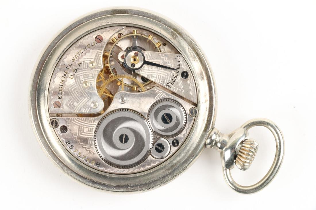 Elgin, Military Pocket Watch & Chain - 6