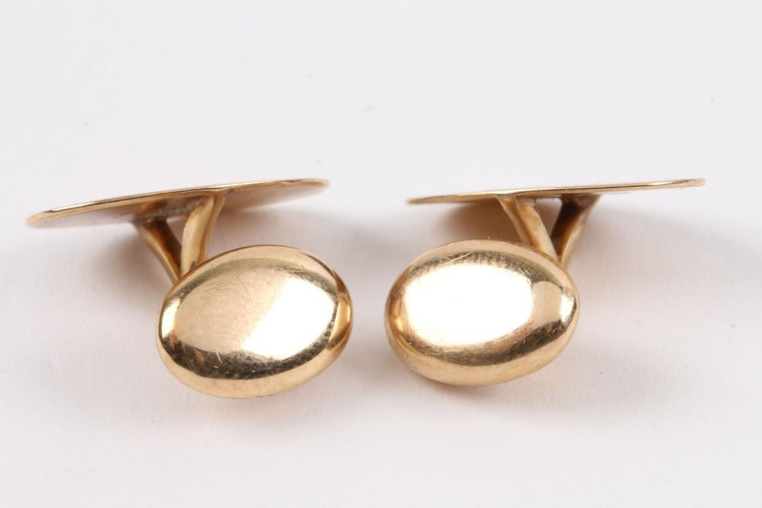 A Pair, Birks 14K Gold Cufflinks - 3