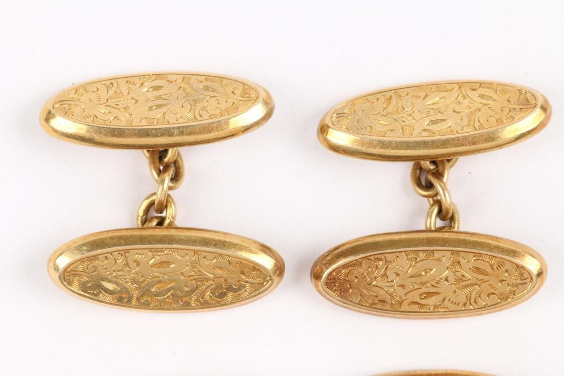 A Pair, 14K-18K Gold Cufflinks - 2