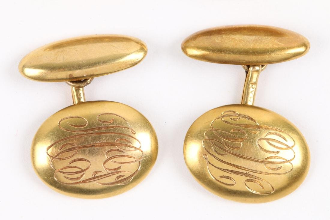 A Pair, 14K-18K Gold Cufflinks - 3