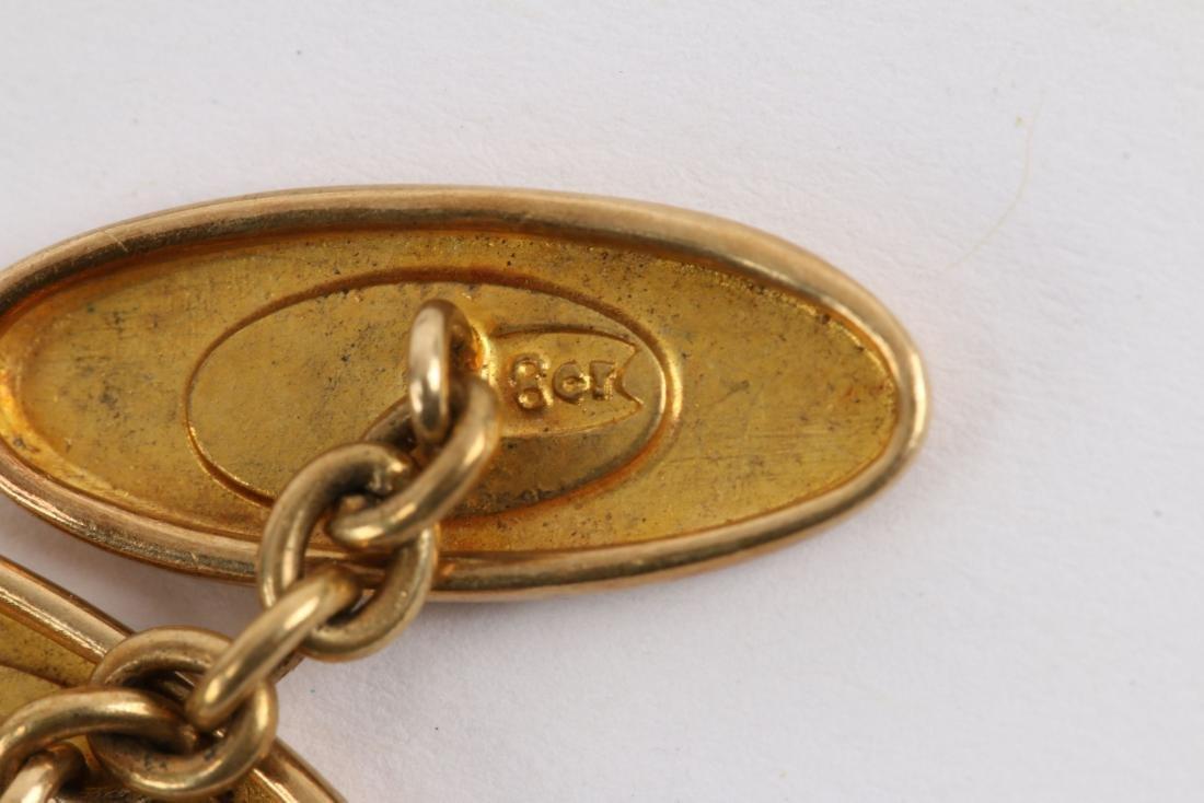 A Pair, 14K-18K Gold Cufflinks - 5