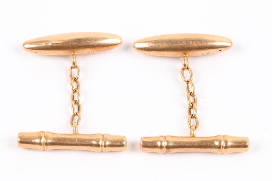 2 Pairs, 10K-15K Gold Cufflinks - 7