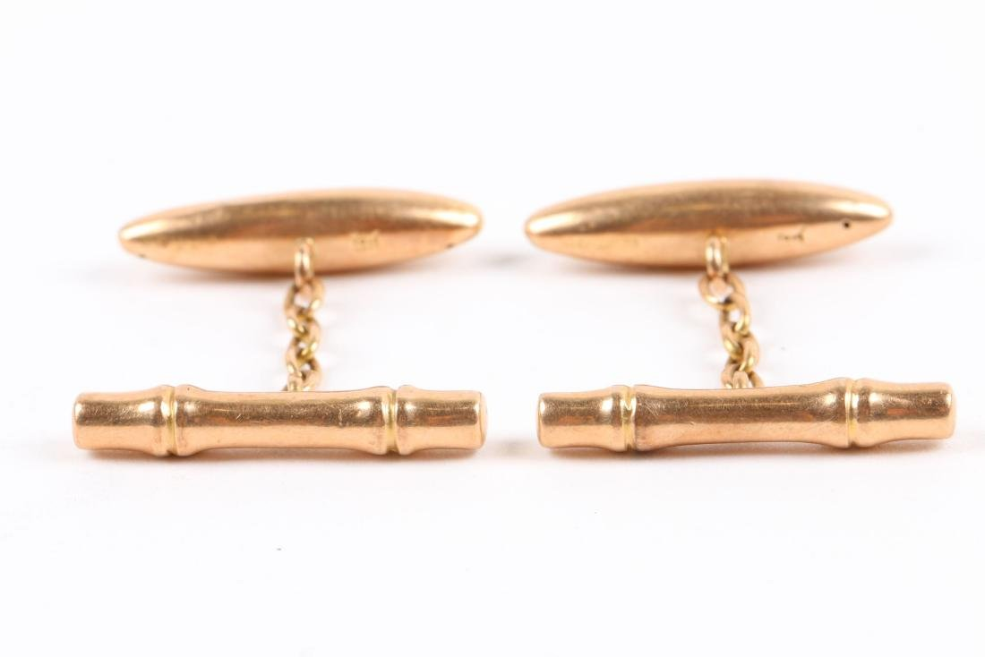 2 Pairs, 10K-15K Gold Cufflinks - 8