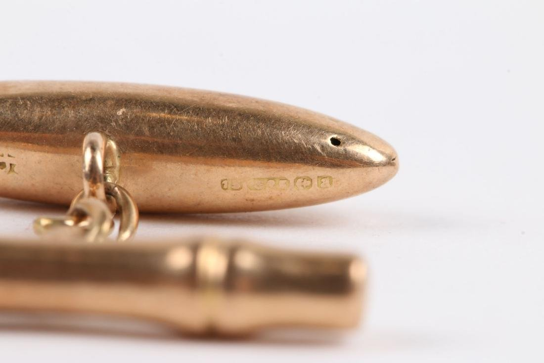 2 Pairs, 10K-15K Gold Cufflinks - 9