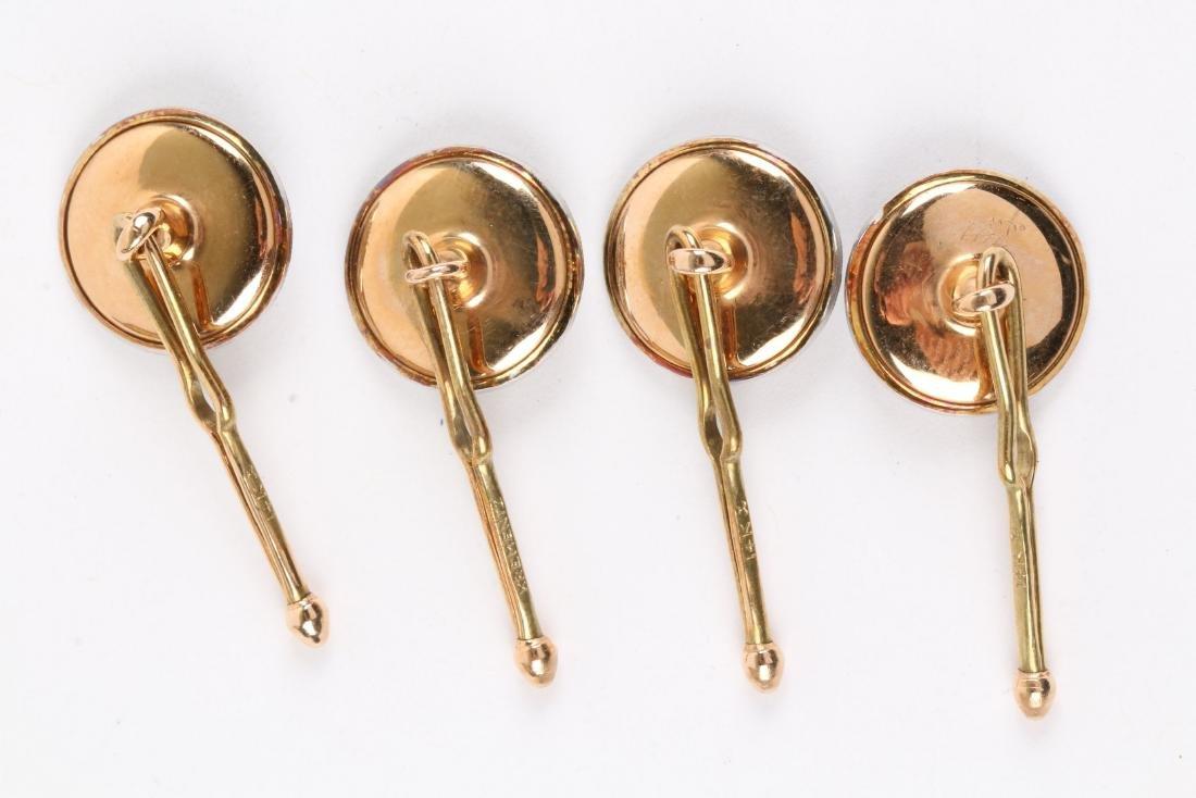 Krementz, 14K Gold, Onyx & Pearl Cufflinks Set - 6
