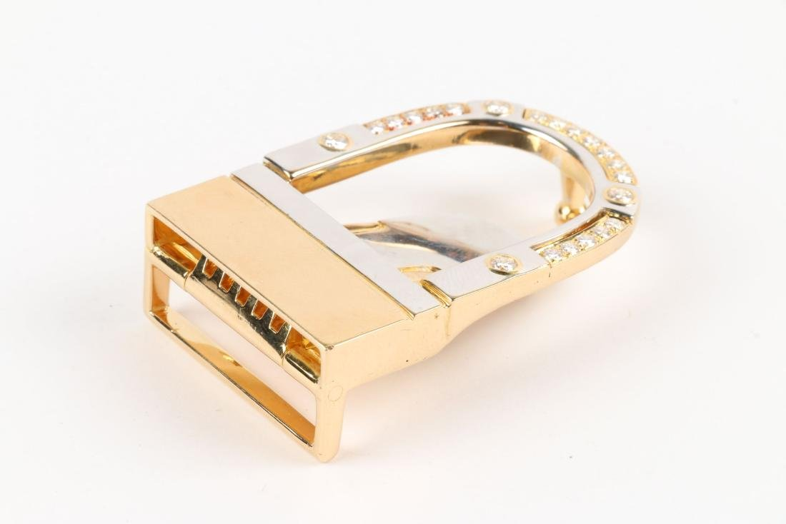 A 18K, Platinum & Diamond Belt Buckle - 2