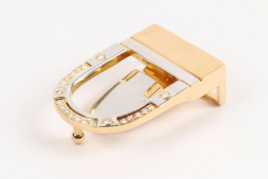 A 18K, Platinum & Diamond Belt Buckle - 3