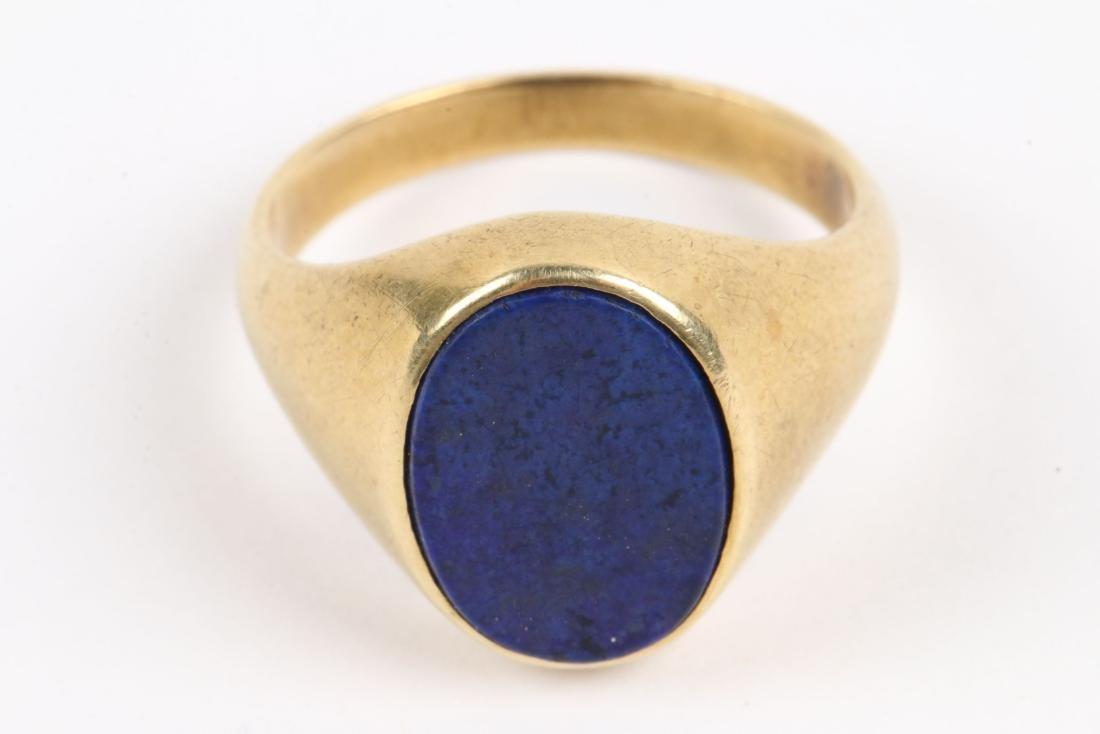 A 14K & Lapis Lazuli Dinner Ring - 2
