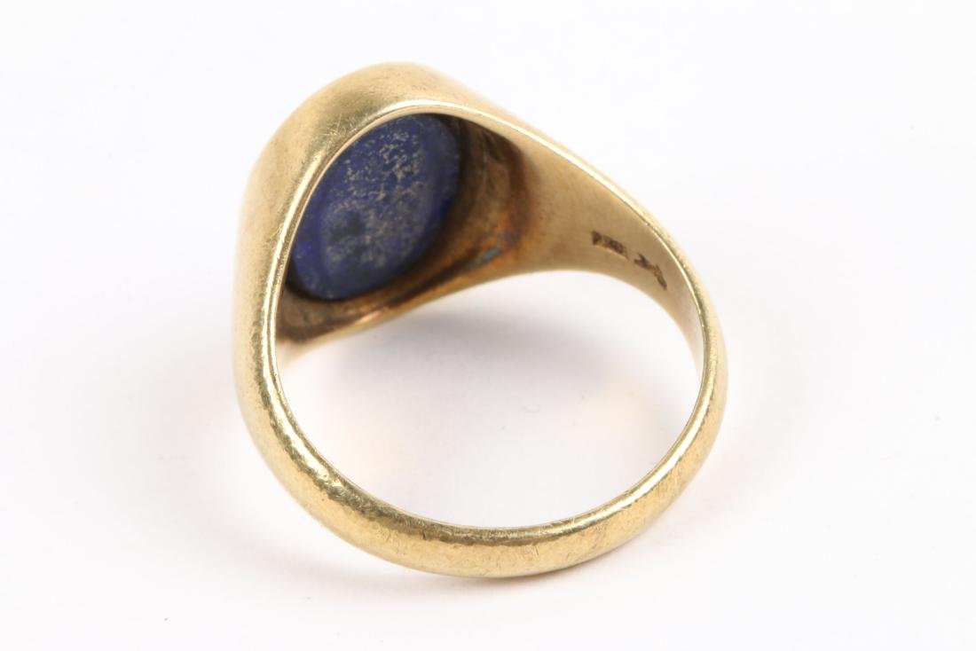 A 14K & Lapis Lazuli Dinner Ring - 4