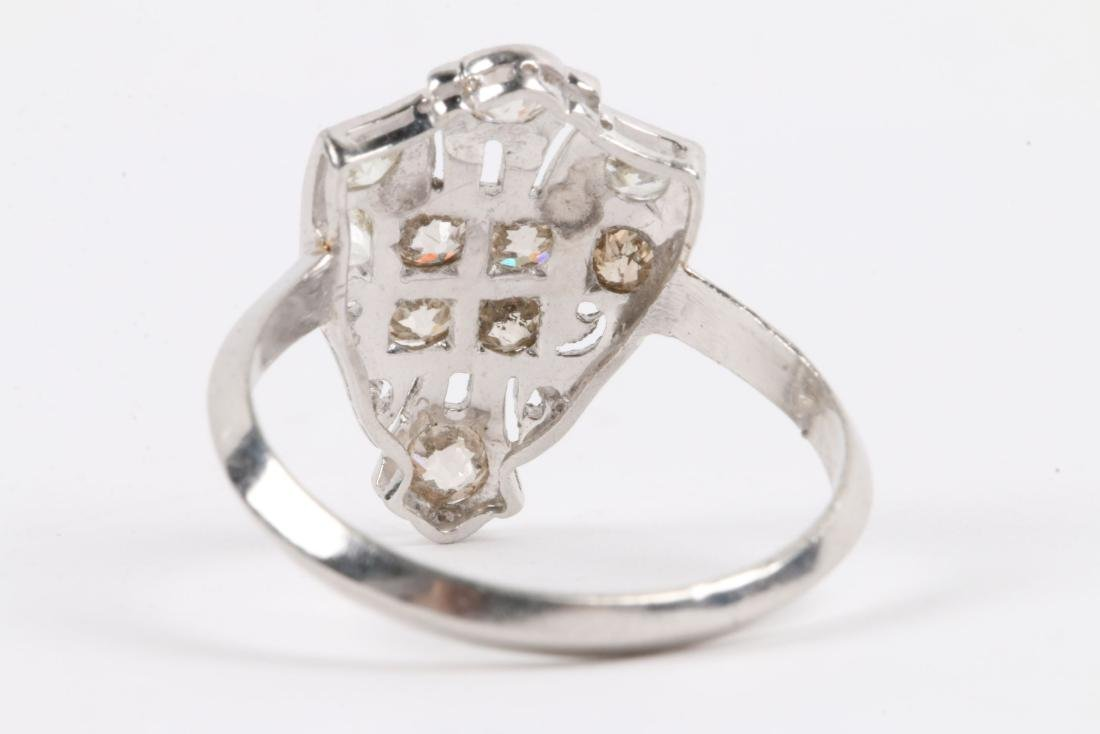 A Platinum & Old Mine Cut Diamond Ring - 4
