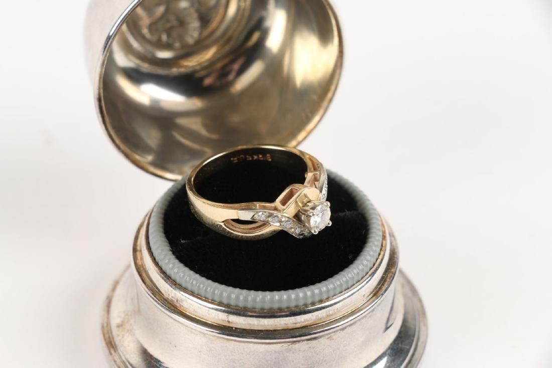 A Birks 14K Gold & Diamond Ring - 4