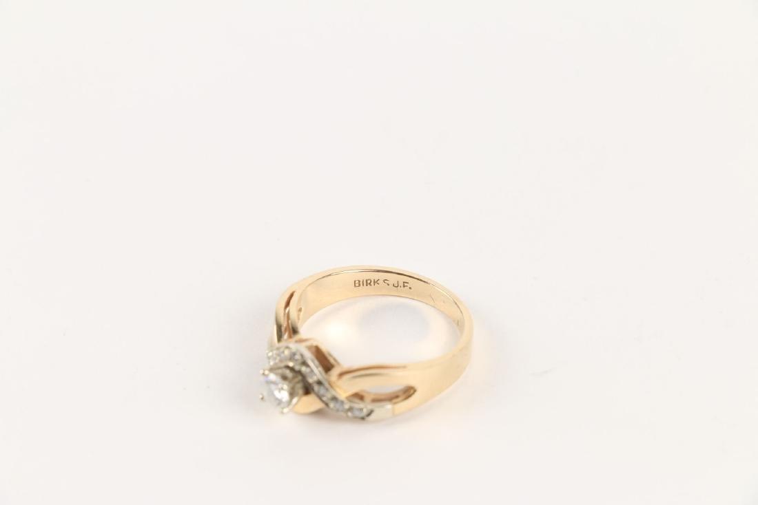 A Birks 14K Gold & Diamond Ring - 5