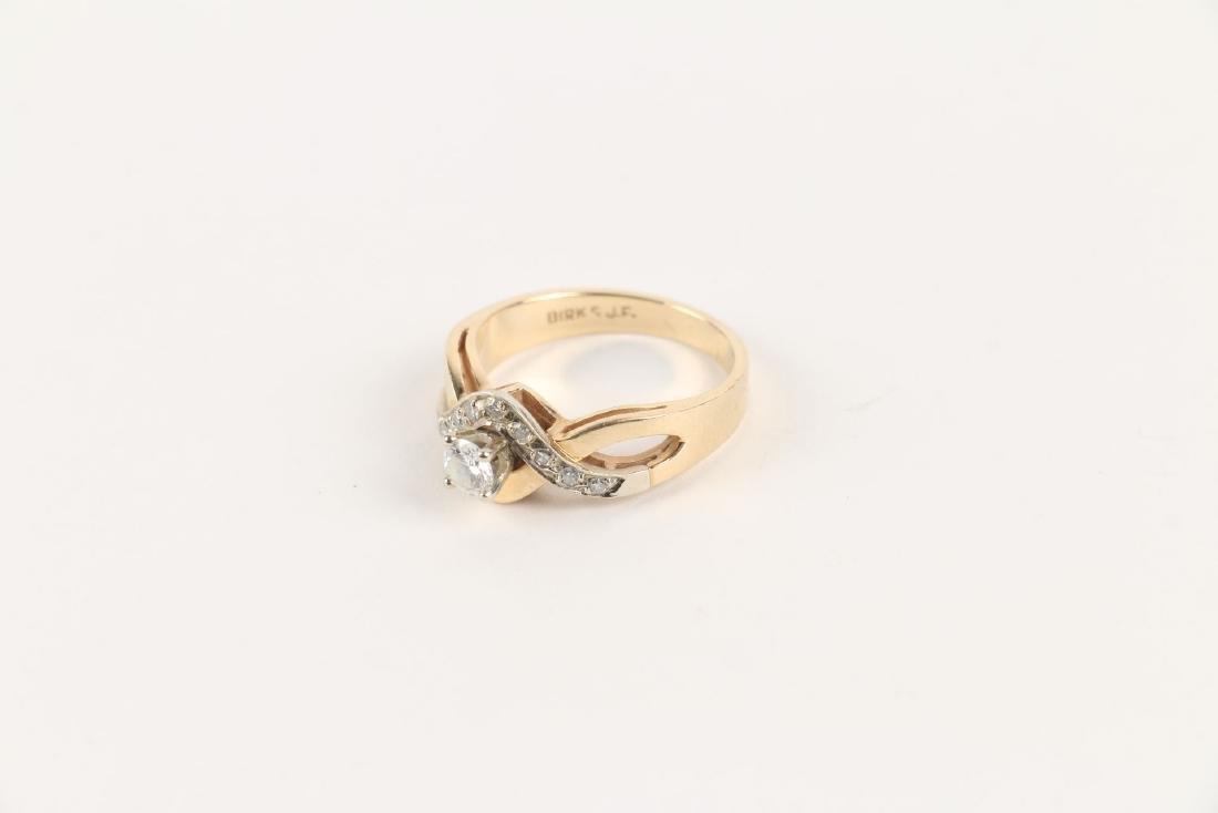 A Birks 14K Gold & Diamond Ring - 6