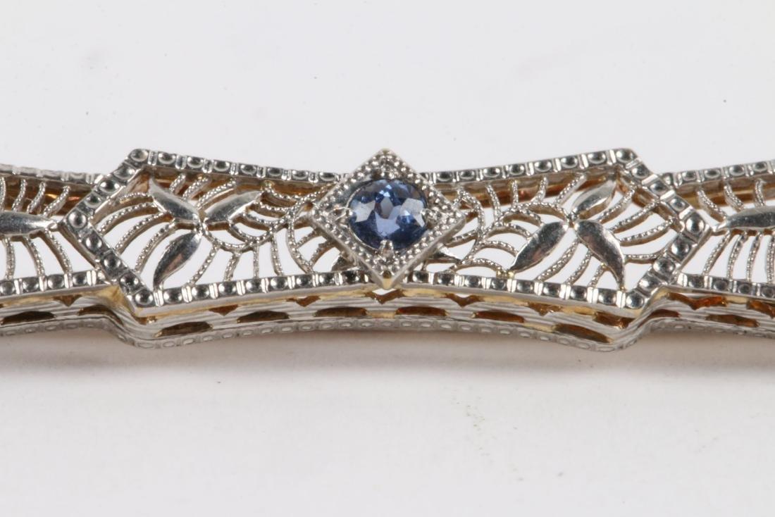 A Pair, Victorian Gold Amethyst, Pearl & Sapphire Bar - 3