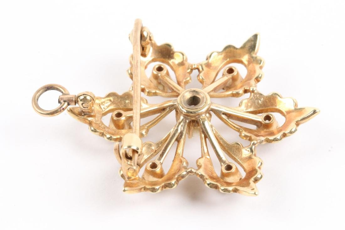 An Edwardian 14K Gold & Seed Pearl Brooch - 5