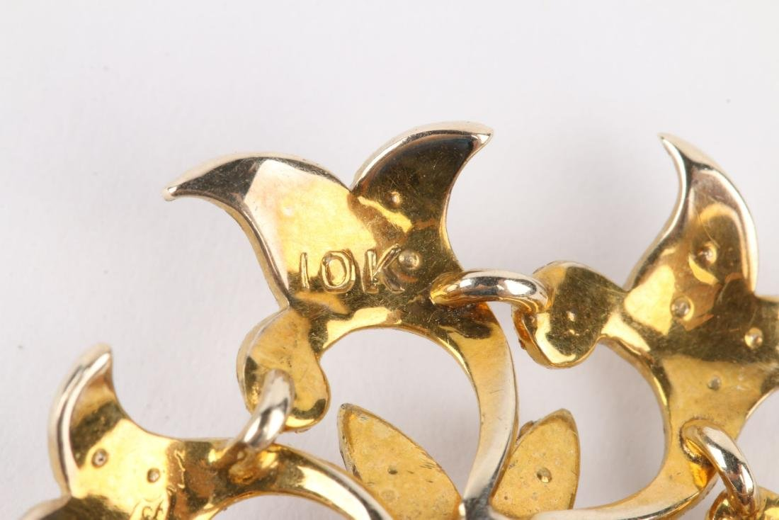 A Pair, Gold & Seed Pearl Brooches - 5