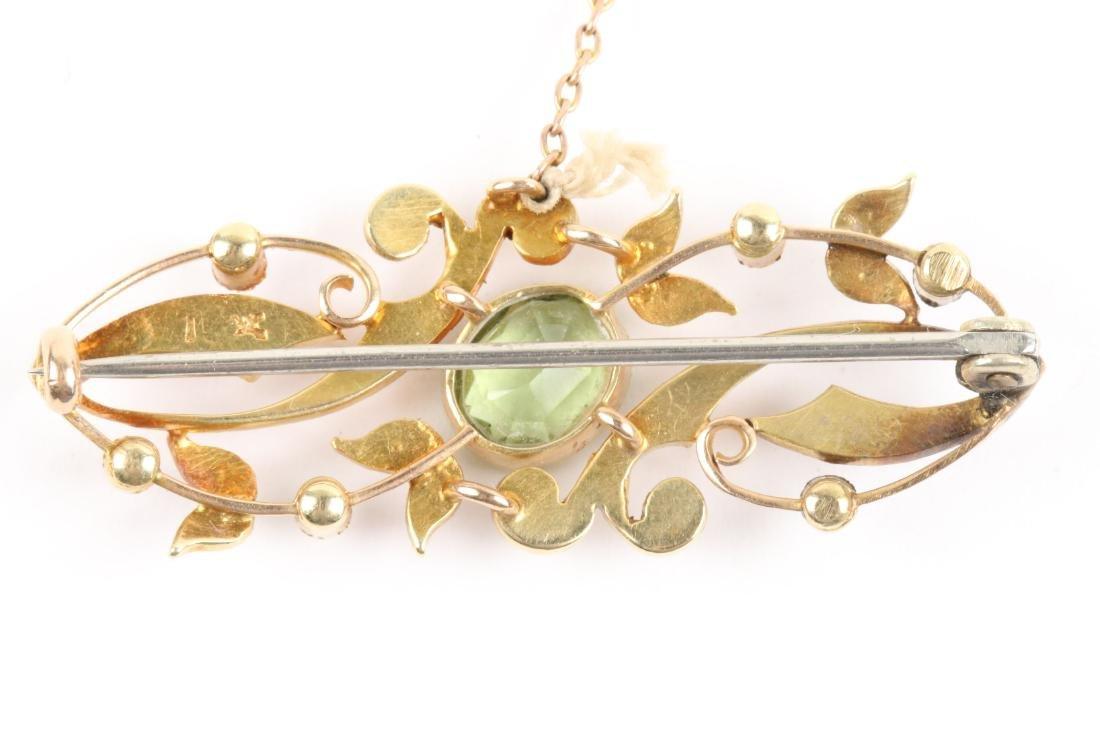 A Pair, Edwardian 15K, Amethyst & Seed Pearl Pendants - 3