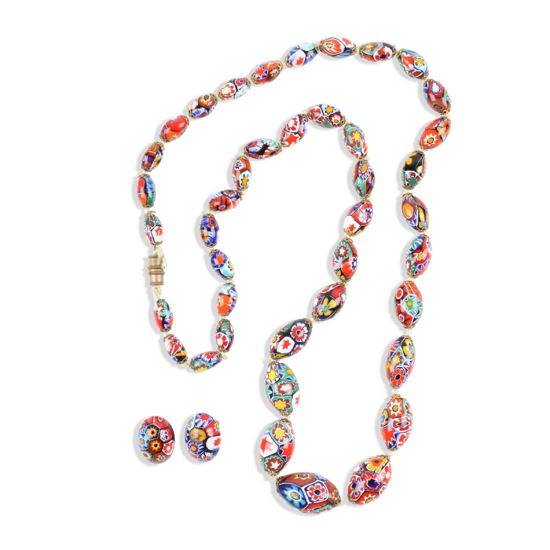 A Murano Millefiori Beaded Necklace