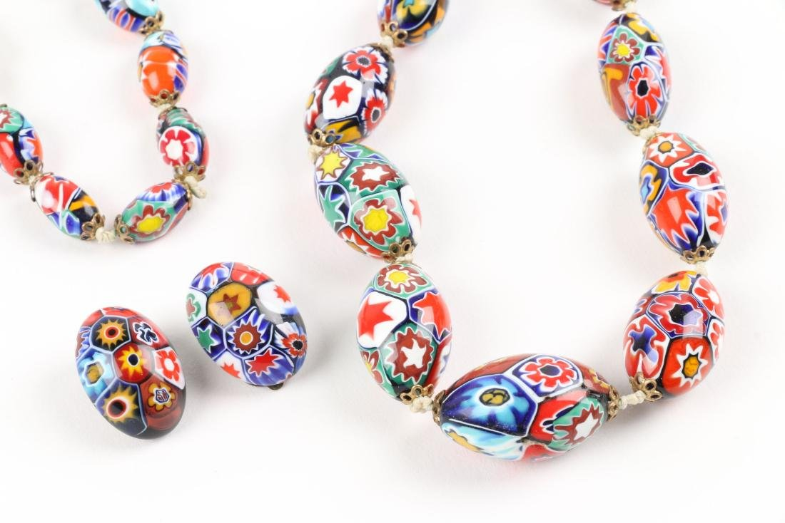 A Murano Millefiori Beaded Necklace - 2