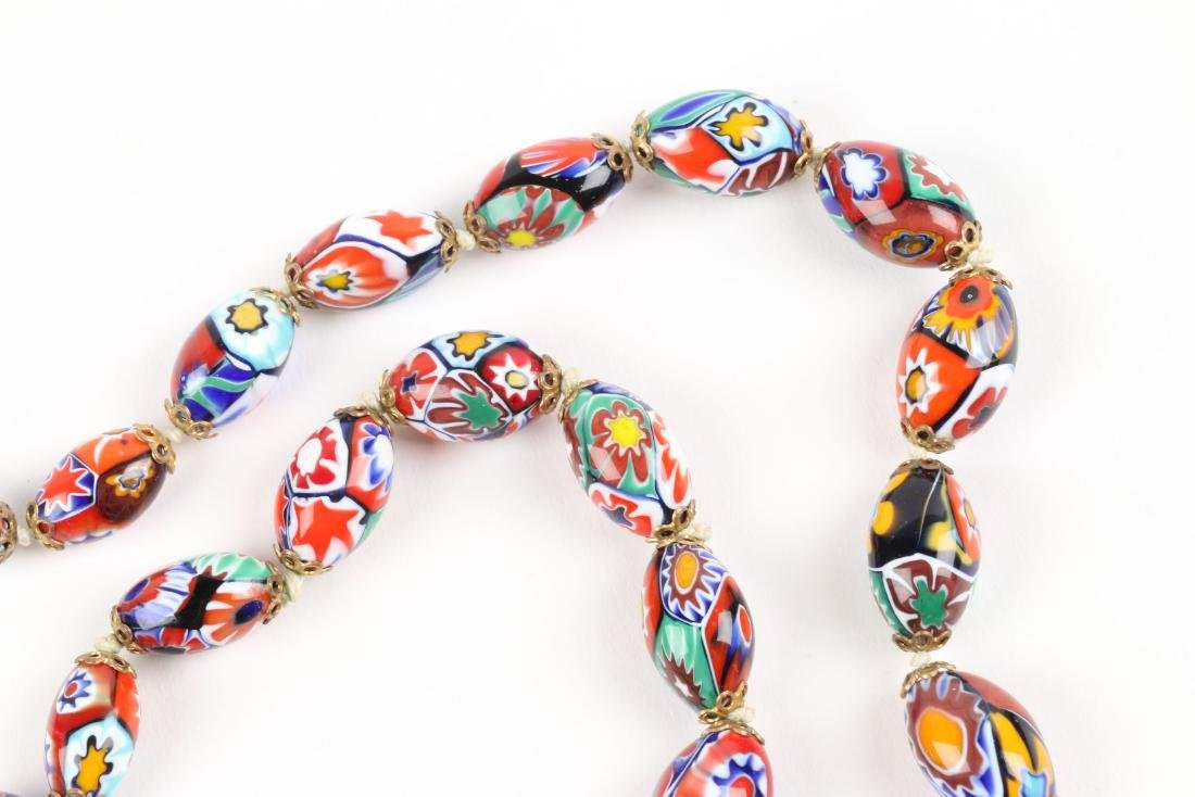 A Murano Millefiori Beaded Necklace - 4