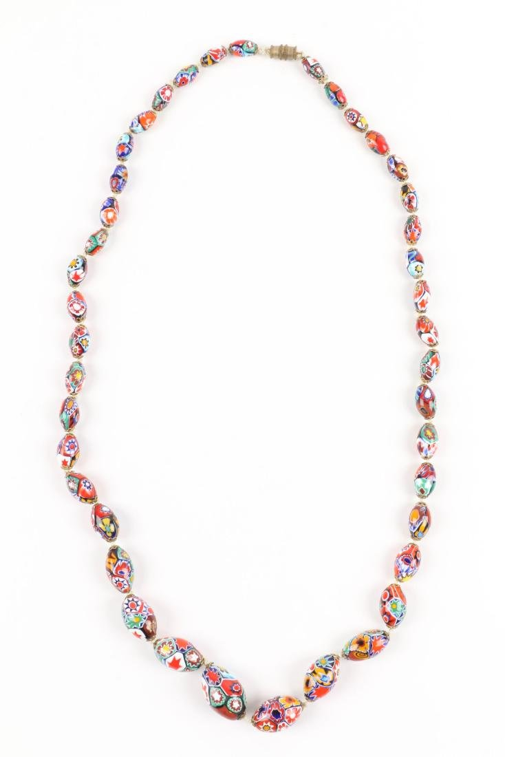 A Murano Millefiori Beaded Necklace - 5