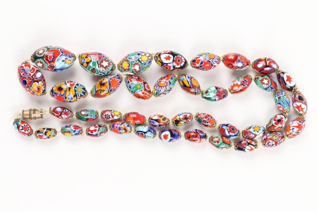 A Murano Millefiori Beaded Necklace - 6