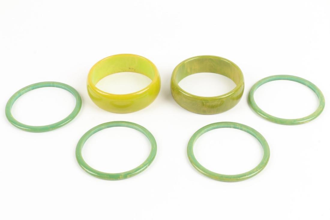 Assorted Bakelite Bangle Bracelets - 6