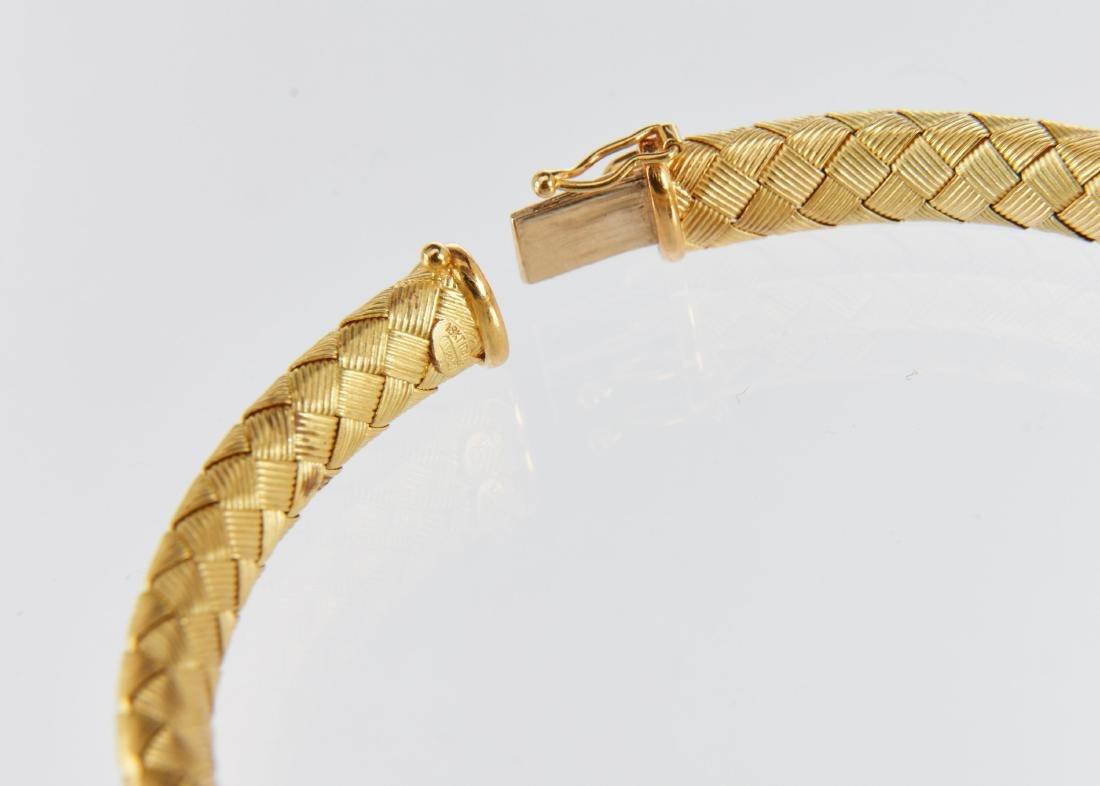 A Roberto Coin 18K Woven Bracelet & Earrings Set - 6
