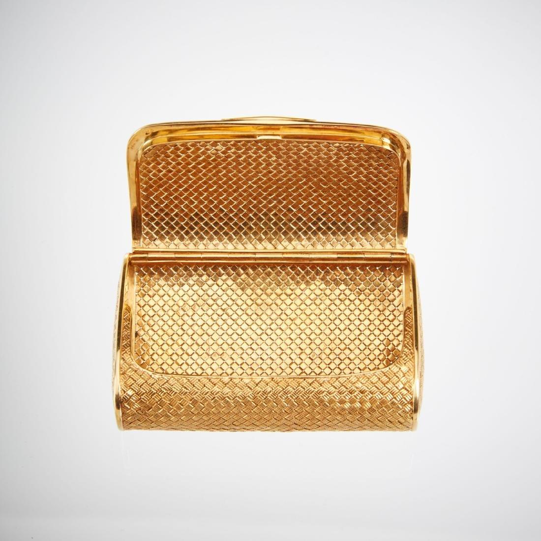 An Italian 18K Gold & Diamond Clutch - 3