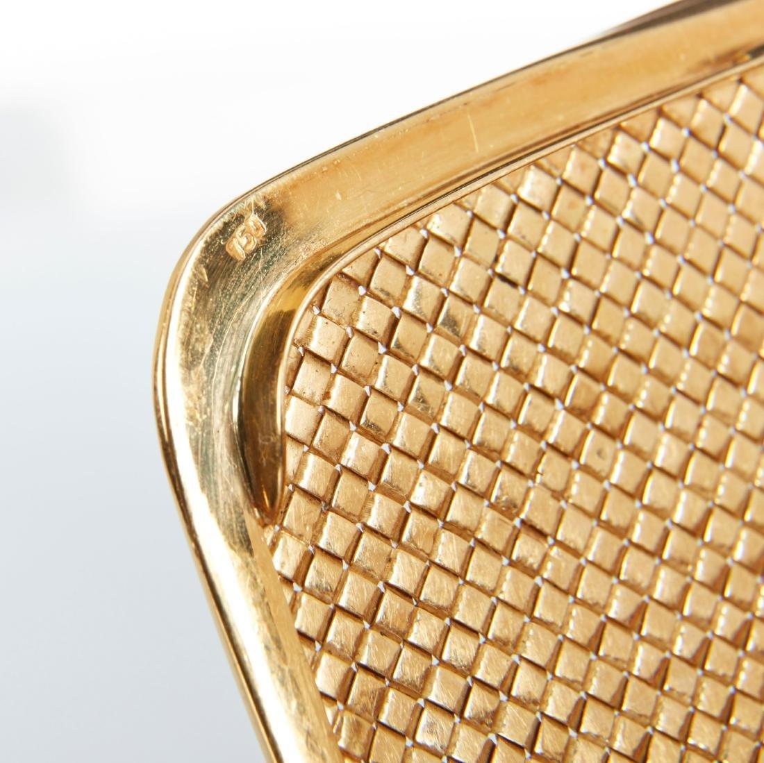 An Italian 18K Gold & Diamond Clutch - 4