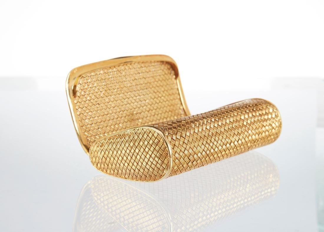 An Italian 18K Gold & Diamond Clutch - 5