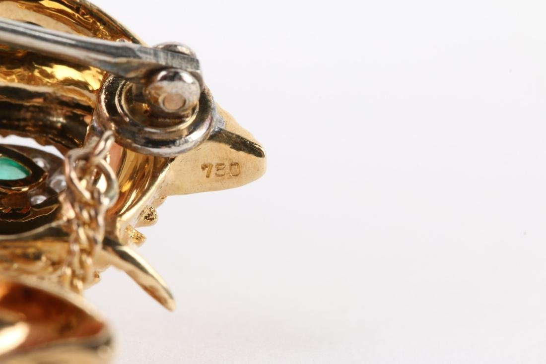 "Cartier, 18K, Ruby, Diamond & Emerald ""Fox"" Brooch - 7"