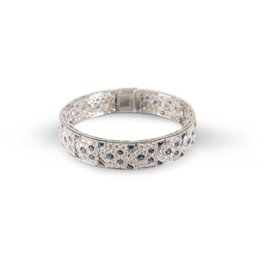 """Cartier, 18K, Diamond & Sapphire """"Arcadie"""" Bracelet"""