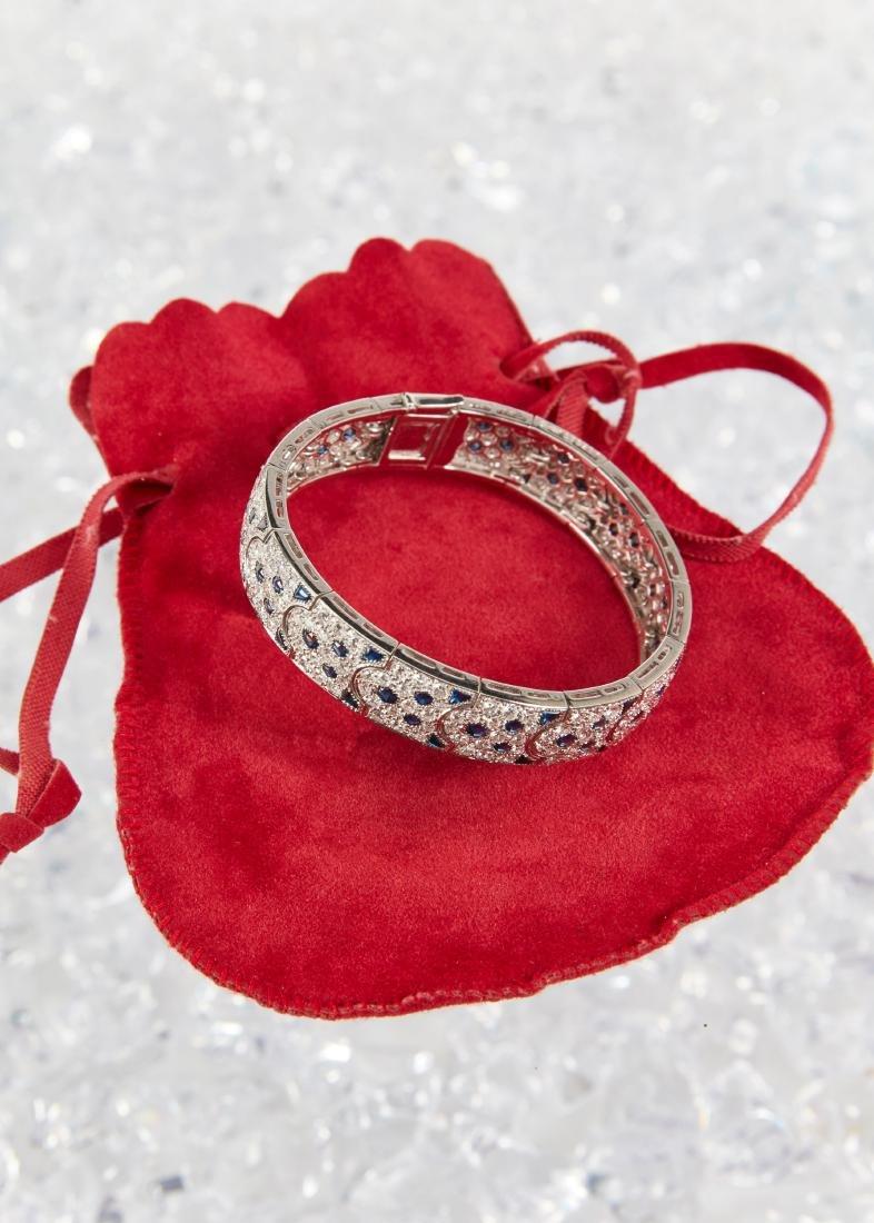 """Cartier, 18K, Diamond & Sapphire """"Arcadie"""" Bracelet - 2"""