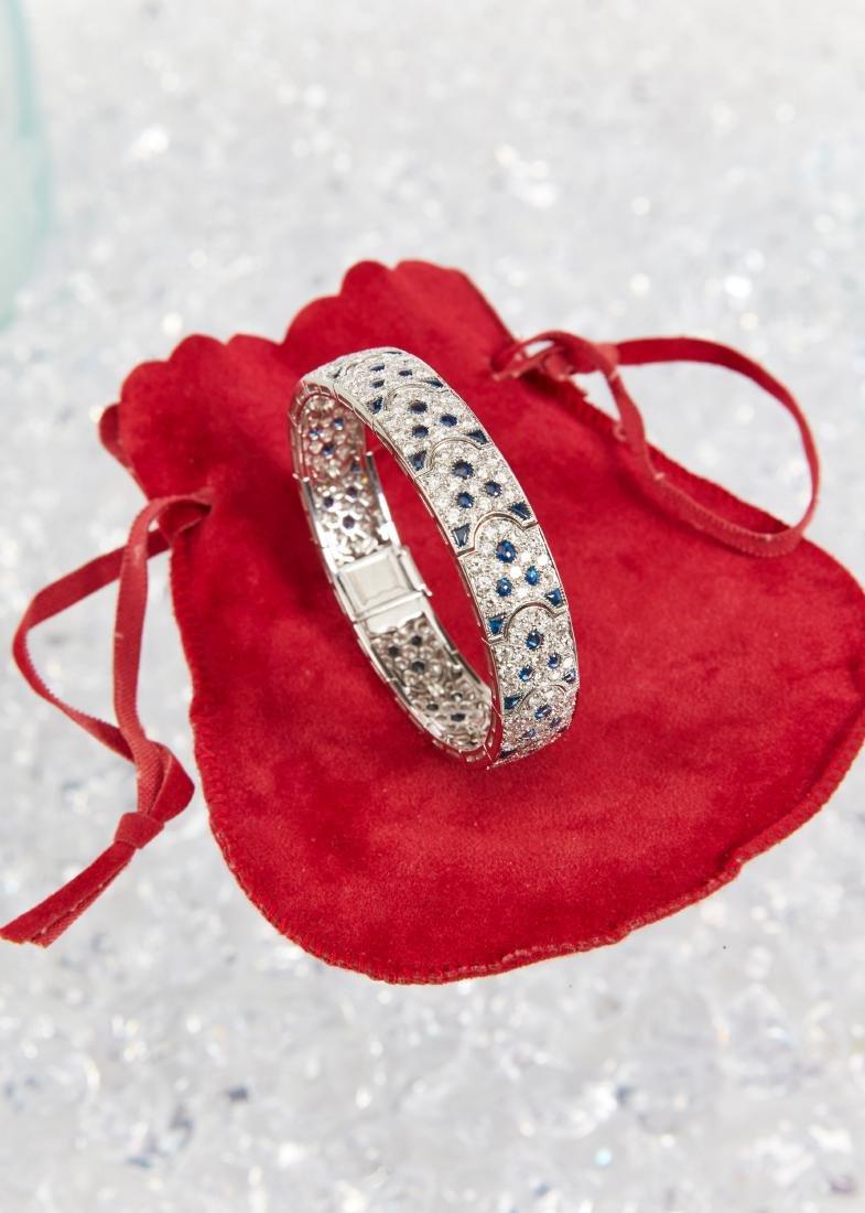 """Cartier, 18K, Diamond & Sapphire """"Arcadie"""" Bracelet - 3"""