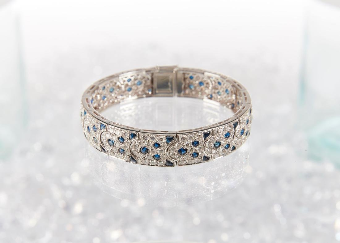 """Cartier, 18K, Diamond & Sapphire """"Arcadie"""" Bracelet - 4"""