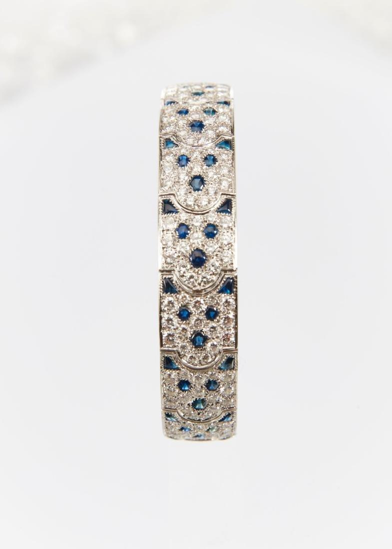 """Cartier, 18K, Diamond & Sapphire """"Arcadie"""" Bracelet - 5"""