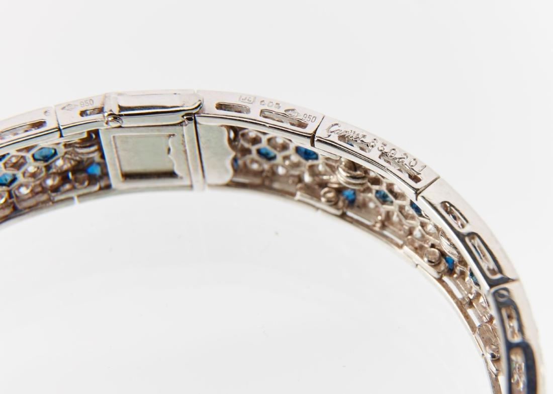 """Cartier, 18K, Diamond & Sapphire """"Arcadie"""" Bracelet - 6"""
