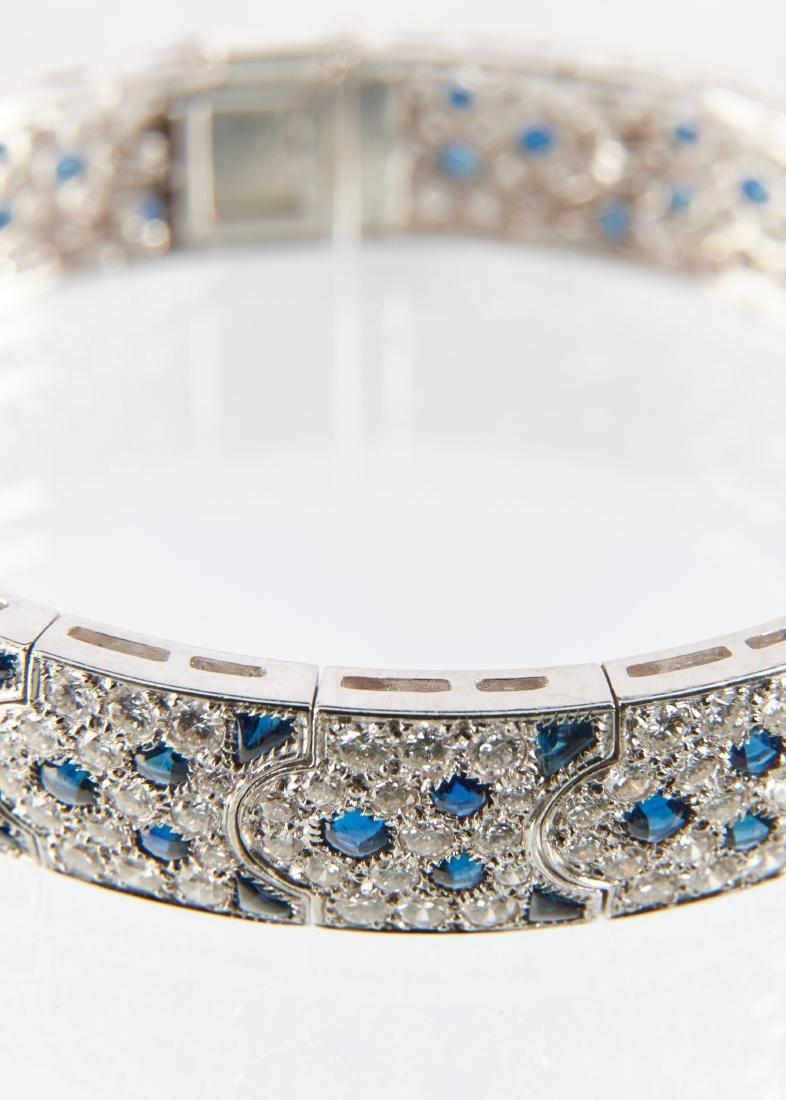 """Cartier, 18K, Diamond & Sapphire """"Arcadie"""" Bracelet - 7"""