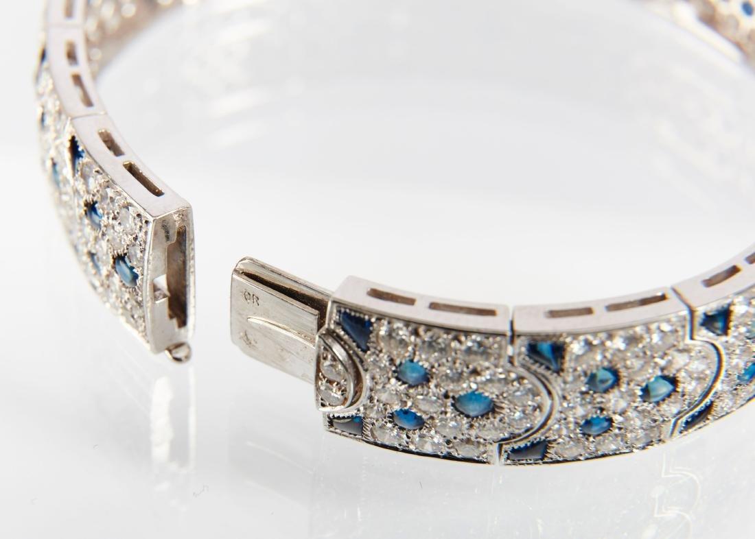 """Cartier, 18K, Diamond & Sapphire """"Arcadie"""" Bracelet - 8"""