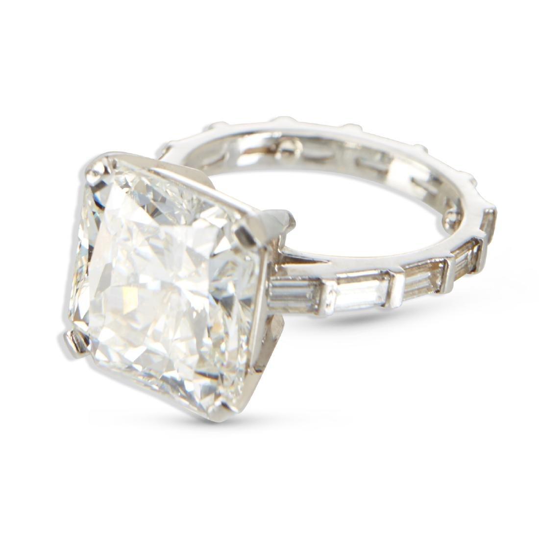 An 11-Carat Platinum Diamond Ring